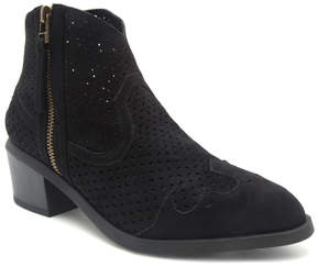 Qupid Black Thrill Ankle Boot - Women