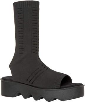 Max Studio guerdon : slip-on peep toe knitted boots