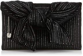 Jimmy Choo RIVA Black Velvet Clutch Bag with Mirror Hotfix