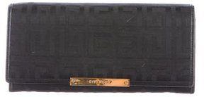 Givenchy Leather-Trimmed Jacquard Wallet