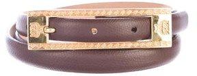 MCM Leather Thin Belt