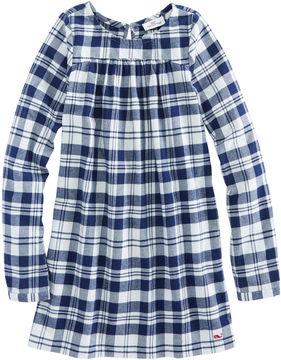 Vineyard Vines Girls Soiree Plaid Flannel Dress