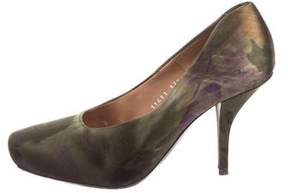 Dries Van Noten Printed Satin Pumps