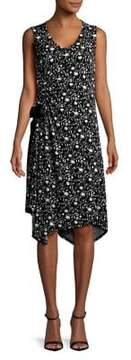 Ellen Tracy Ruched Floral Dress