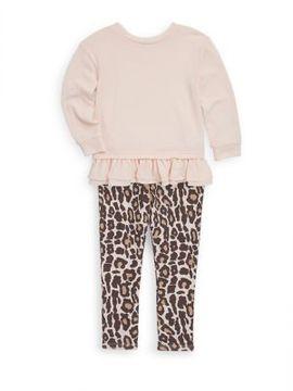 Splendid Little Girl's Top and Leopard-Print Leggings Set