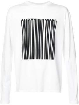 Alexander Wang barcode graphic long-sleeved top