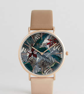 Reclaimed Vintage Inspired Hawaiian Two Tone Leather Watch In Brown Exclusive To ASOS