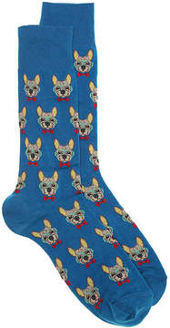 Hot Sox Men's Frenchie Men's's Crew Socks