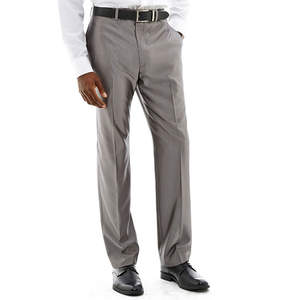 Claiborne Shimmer Herringbone Flat-Front Stretch Suit Pants
