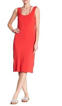 Bobeau Sleeveless Crisscross Back Dress