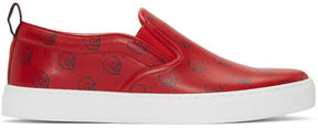 Gucci Red Ghost Dublin Slip-On Sneakers