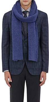 Barneys New York Men's Popcorn-Knit Wool-Cashmere Scarf
