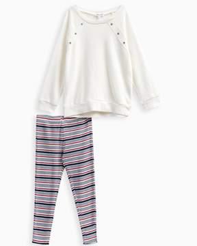 Splendid Little Girl Grommet Sweatshirt Set