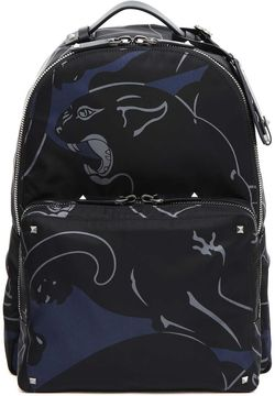 Valentino Printed Canvas Backpack