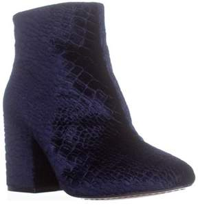 French Connection Dilyla Block Heel Ankle Boots, Navy.