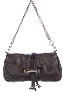 Gucci Python Croisette Evening Bag - GREY - STYLE