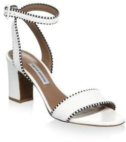 Tabitha Simmons Leather Ankle-Strap Sandals