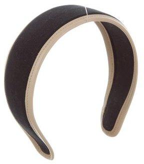Miu Miu Leather-Trimmed Canvas Headband