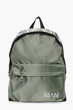 boohoo MAN Printed Nylon Back Pack