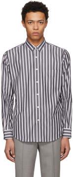 Ami Alexandre Mattiussi SSENSE Exclusive Black and White Large Stripe Shirt