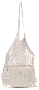 Vetements Granny Medium Leather Bag - Womens - Light Grey