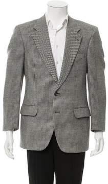 Burberry Wool Glen-Plaid Blazer