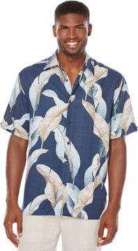 Cubavera Short Sleeve Leaf Print Shirt