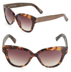 Linda Farrow Luxe Printed 55MM Cat Eye Sunglasses