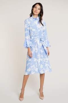 Maia Blue Shadow Shirt Dress