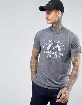 Jack Wills Wentworth T-Shirt St Moritz Print Marl