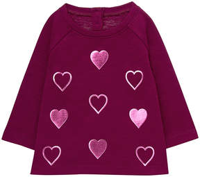 Gymboree Purple Foil Heart-Patch Sweater - Infant, Toddler & Girls