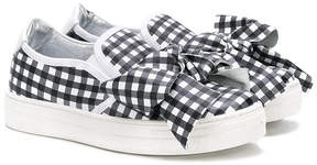 Simonetta check print sneakers