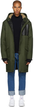 Pyer Moss Green Long Retro Parka