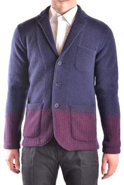 Altea Men's Blue/red Wool Blazer.