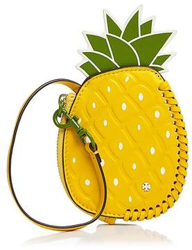 Tory Burch Pineapple Leather Coin Pouch - DAISY YELLOW MULTI/GOLD - STYLE