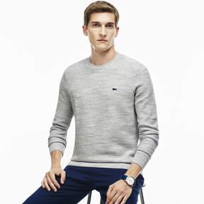 Lacoste Men's Bicolor Moss Stitch Crew Neck Sweater