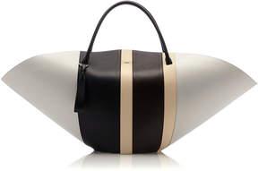 Jil Sander Sombrero Striped Large Leather Bag