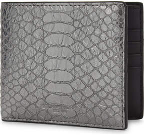 Michael Kors Metallic snake-embossed billfold wallet - NICKLE - STYLE