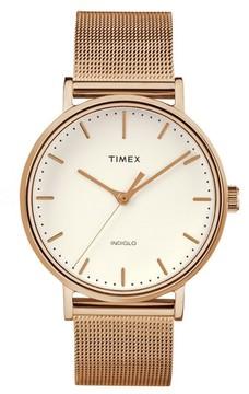 Timex Women's Fairfield Mesh Strap Watch, 37Mm