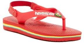 Havaianas Brazil Logo Thong Sandal (Baby & Toddler)