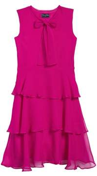Oscar de la Renta Tiered Silk Chiffon Dress