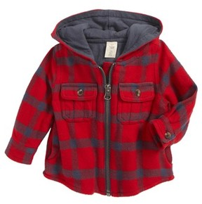 Tucker + Tate Infant Boy's Plaid Hooded Jacket