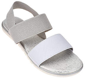 Me Too Gored Double Strap Sandals w/ Backstrap - Brielle