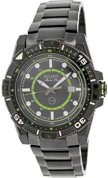 Bulova Men's Marine Star 98B178 Black Stainless-Steel Quartz Watch