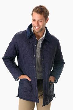 Barbour Men's Navy Quilted Liddesdale Jacket
