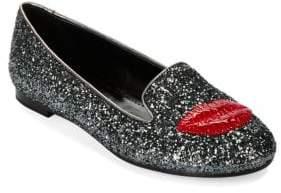 Chiara Ferragni Lipstick Glitter Loafers
