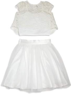 Us Angels Girls' Lace Top & Skirt Set - Little Kid