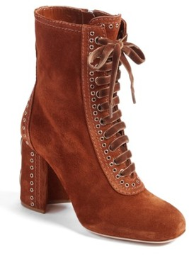 Miu Miu Women's Lace-Up Bootie