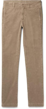 Massimo Alba Winch Slim-Fit Textured Stretch-Cotton Trousers