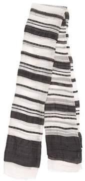 Max Mara Striped Woven Scarf
